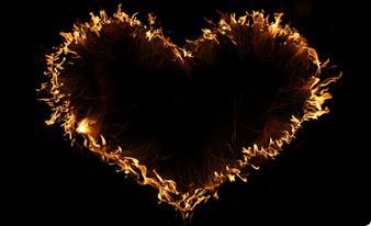 элегантное огненное сердце