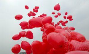 идеальные 40 шаров в форме сердца